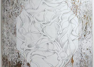 """Behind the Rain Kate Paul oil on canvas 37"""" x 48"""""""