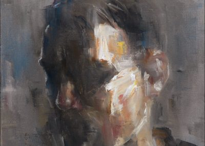 """Self at 24 Dillon Samuelson Oil on canvas 8"""" x 10"""""""