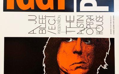 Gig poster chats w/ Nels Jacobson: Iggy Pop, Austin Opera House, Austin, TX
